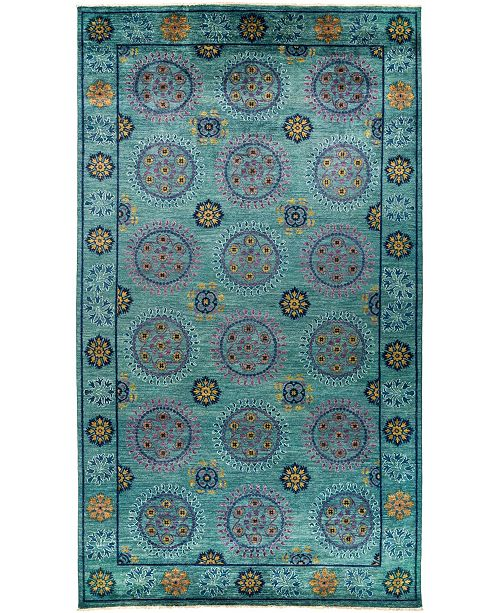 """Timeless Rug Designs CLOSEOUT! One of a Kind OOAK3039 Teal 8'1"""" x 14'3"""" Area Rug"""