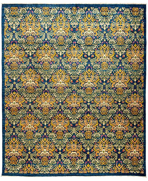"""Timeless Rug Designs CLOSEOUT! One of a Kind OOAK2980 Navy 8'1"""" x 9'6"""" Area Rug"""