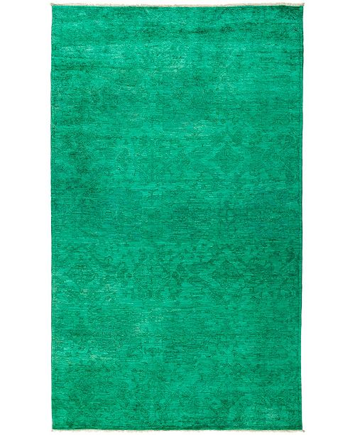 "Timeless Rug Designs CLOSEOUT! One of a Kind OOAK2944 Aquamarine 6'1"" x 10'1"" Area Rug"