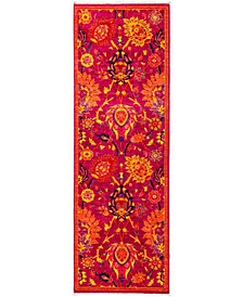 "CLOSEOUT! One of a Kind OOAK2841 Pink 2'8"" x 7'10"" Runner Rug"