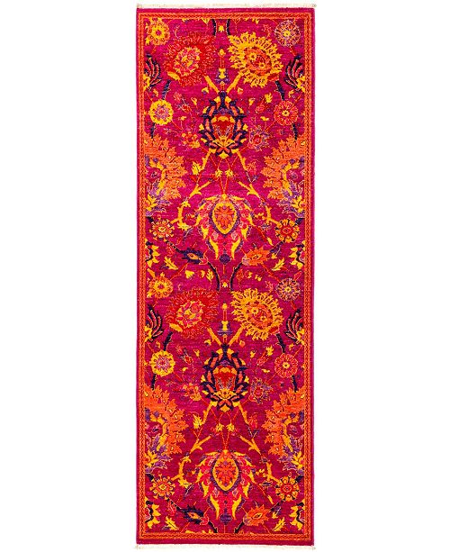 """Timeless Rug Designs CLOSEOUT! One of a Kind OOAK2841 Pink 2'8"""" x 7'10"""" Runner Rug"""