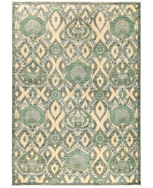 """Timeless Rug Designs CLOSEOUT! One of a Kind OOAK2878 Mist 6'5"""" x 9'1"""" Area Rug"""