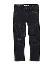 Toddler, Little and Big Boys Moto Jean