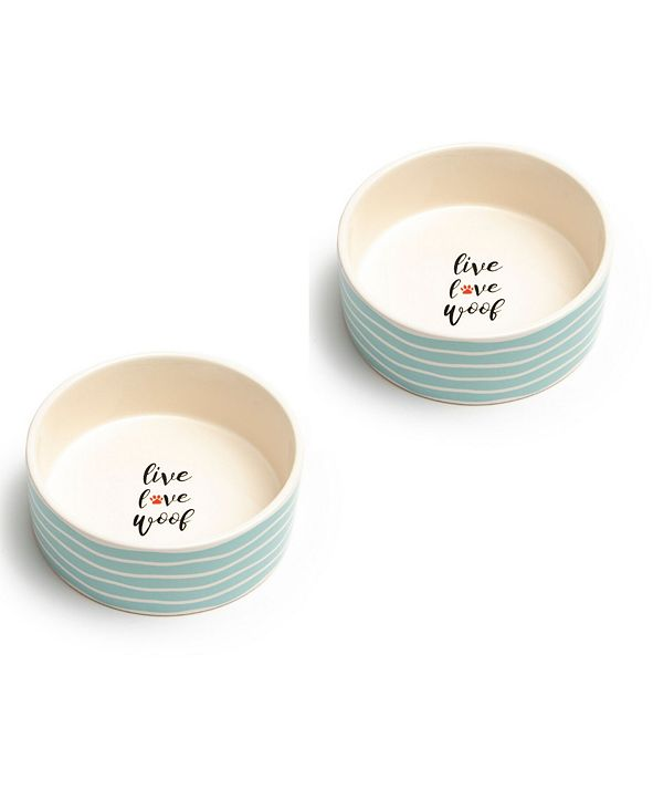 "Park Life Designs Sagres Medium 6.5"" Pet Bowl, Set of 2"