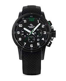 Men's Summertime Black Silicone Performance Timepiece Watch 46mm
