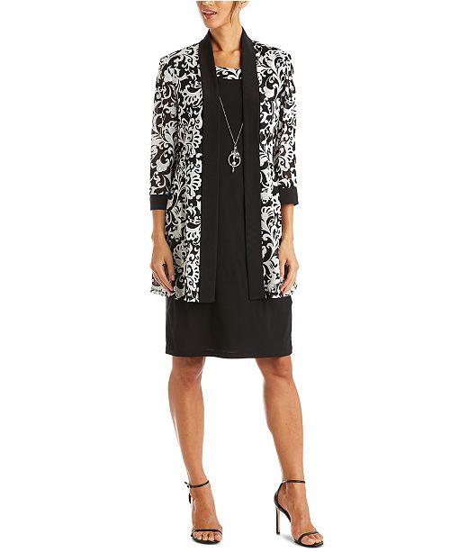 R & M Richards Dress & Printed Jacket