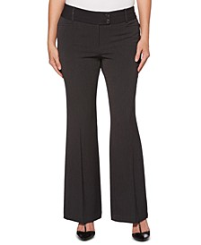 Women's Curvy-Fit Gabardine Bootcut Trouser-Short Inseam