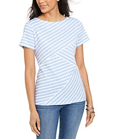 Asymmetrical Striped Top, Created For Macy's