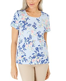 Floral-Print Scoop-Neck Top, Created For Macy's