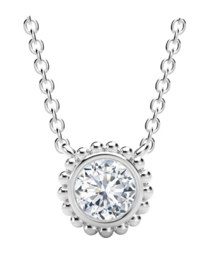Forevermark Tribute Collection Diamond (1/4 ct. t.w.) Necklace with Beaded Detail in 18k Yellow