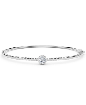 Forevermark Tribute Collection Diamond (1/3 ct. t.w.)Bangle with Beaded Detail in 18k Yellow
