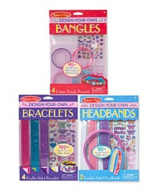 Melissa & Doug Design-Your-Own Bracelets, Headbands & Bangles Accessories Bundle