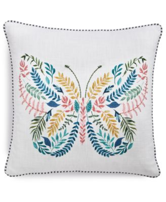 "Butterfly 20"" x 20"" Decorative Pillow"