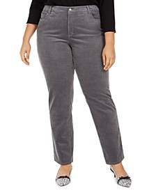 Plus Size Lexington Tummy-Control Corduroy Jeans, Created for Macy's