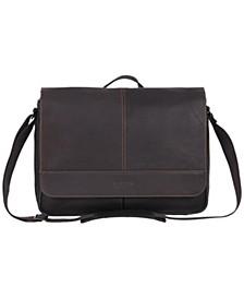 Colombian Leather Single Gusset Messenger Bag