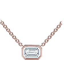 Tribute™ Collection Diamond (1/4 ct. t.w.)  Necklace with Mill-Grain in 18k Yellow, White and Rose Gold
