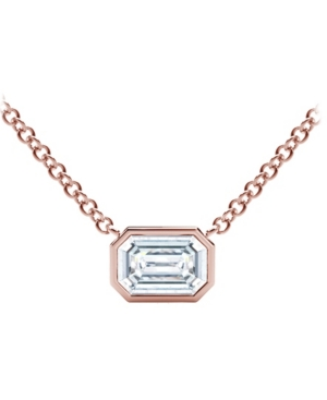 Forevermark Tribute Collection Diamond (1/4 ct. t.w.) Necklace with Mill-Grain in 18k Yellow