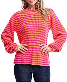 Fever Striped Mock-Neck Sweater
