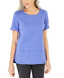Cotton Topstitched Top, Created For Macy's