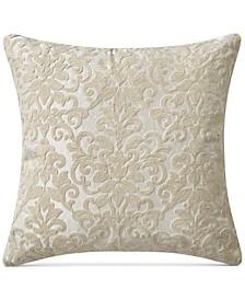 "Josephine Crewel Embroidered 20"" x 20"" Decorative Pillow"