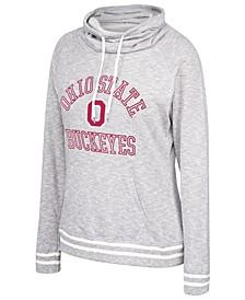Women's Ohio State Buckeyes Long Weekend Cowl Neck Sweatshirt