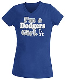 Big Girls Los Angeles Dodgers Team Fan T-Shirt