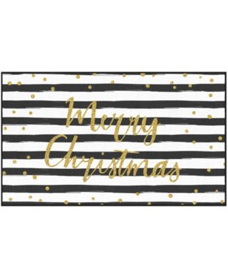 Christmas Stripe Accent Rug, 18