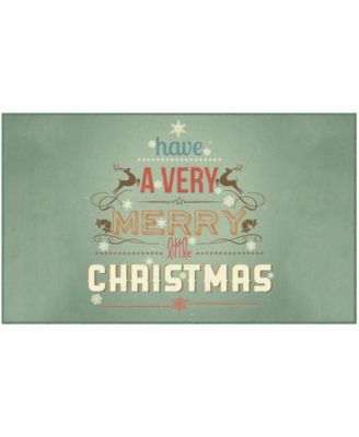 Merry Little Christmas Accent Rug, 30