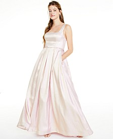 Juniors' Square-Neck Iridescent Gown, Created for Macy's