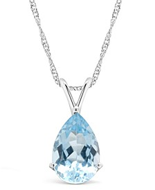 Sky Blue Topaz (3-3/8 ct. t.w.) Pendant Necklace in Sterling Silver. Also Available in Citrine and Rose Quartz