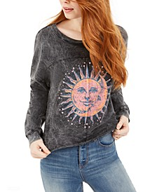 Juniors' Celestial Graphic Sweatshirt