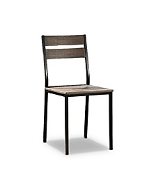 Lansdowne Metal And Wood Side Chairs Set Of 2