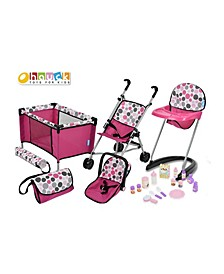 21 Piece Pretend Play Baby Doll Care Set