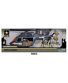 U.S. Army Chopper Playset with 2 Soldier Figures