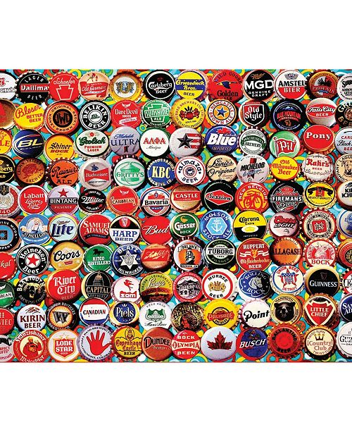 White Mountain Puzzles Beer Bottle Caps 550 Piece Jigsaw Puzzle
