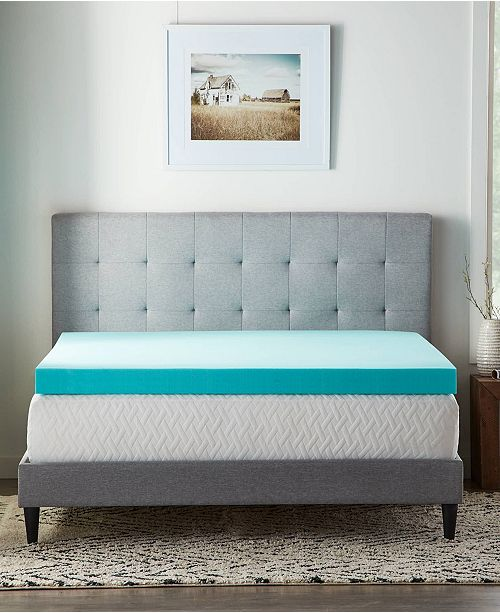 "Lucid 4"" Gel Foam Mattress Topper, Full"