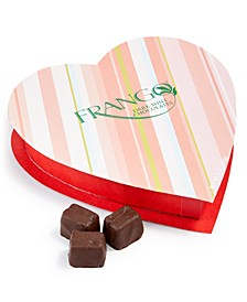 Frango Dark Chocolate Mints in a heart shaped box. Created for Macy's