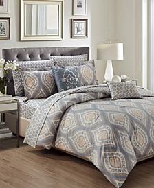 Bethpage 9-Piece Printed Reversible King Comforter Set