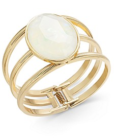Gold-Tone Stone Triple-Row Bangle Bracelet, Created for Macy's