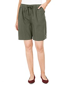 Petite Cotton Pull-On Shorts, Created for Macy's