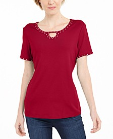 Studded Keyhole Top, Created For Macy's