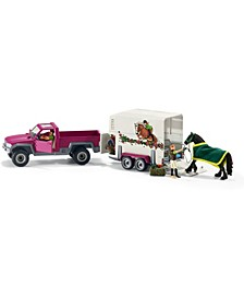 Horse Club Pickup with Horse Box Toy Figure