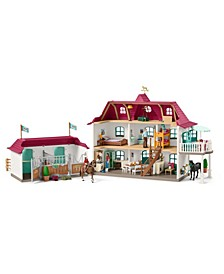 Horse Club, Large Horse Stable with House Stable Playset and Toy Figures