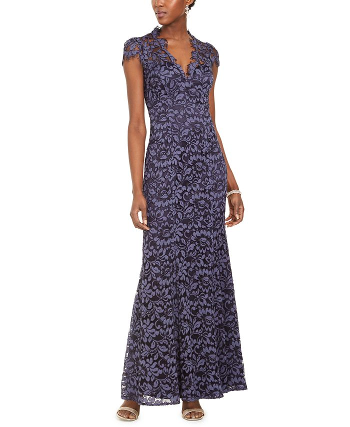 Eliza J - Lace V-Neck Gown