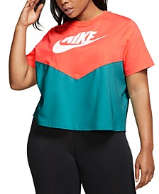 Plus Size Heritage Colorblocked Cropped Top