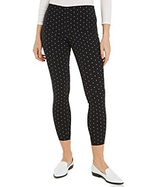 Printed Ponté-Knit Pants, Created For Macy's
