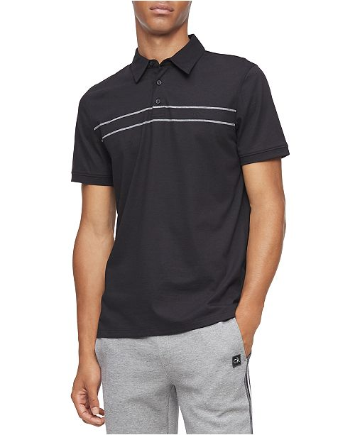 Calvin Klein Men's Classic-Fit Engineered Stripe Polo Shirt