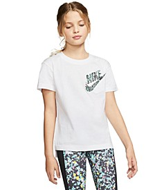 Big Girls Cotton Logo Pocket T-Shirt