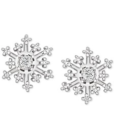 Diamond Snowflake Earring Jackets (1/6 ct. t.w.) in 14k White Gold