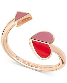 Gold-Tone Folded Heart Ring